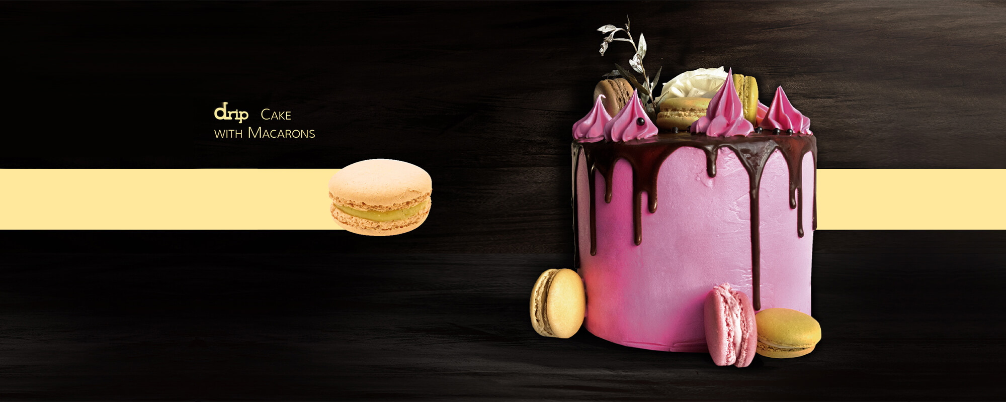 CAKE-DESIGN-DRIP-CAKE-WITH-MACARONS